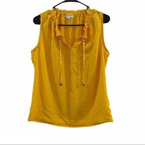 CALVIN KLEIN sleeveless tank top Yellow tie up